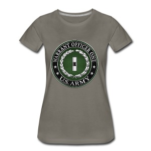 U.S. Army Warrant Officer One (WO1) Rank Insignia  - Women's Premium T-Shirt