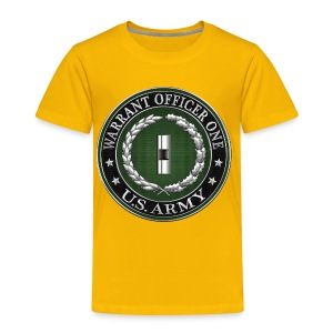 U.S. Army Warrant Officer One (WO1) Rank Insignia  - Toddler Premium T-Shirt