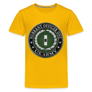 U.S. Army Warrant Officer One (WO1) Rank Insignia  - Kids' Premium T-Shirt