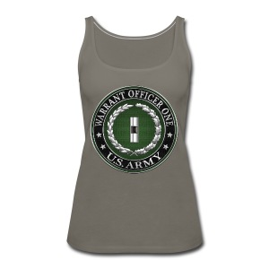 U.S. Army Warrant Officer One (WO1) Rank Insignia  - Women's Premium Tank Top