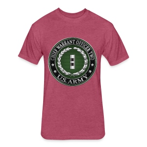U.S. Army Chief Warrant Officer Two (CW2)  - Fitted Cotton/Poly T-Shirt by Next Level