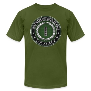 Chief Warrant Officer Four (CW4) Rank Insignia  - Men's T-Shirt by American Apparel