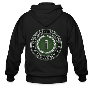 Chief Warrant Officer Four (CW4) Rank Insignia  - Men's Zip Hoodie