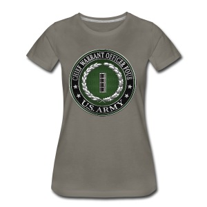 Chief Warrant Officer Four (CW4) Rank Insignia  - Women's Premium T-Shirt