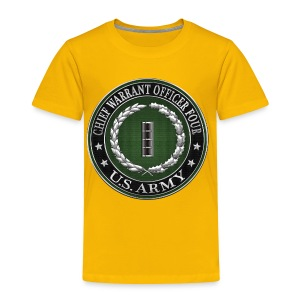 Chief Warrant Officer Four (CW4) Rank Insignia  - Toddler Premium T-Shirt
