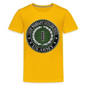 Chief Warrant Officer Four (CW4) Rank Insignia  - Kids' Premium T-Shirt