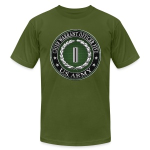 Chief Warrant Officer Five (CW5) Rank Insignia - Men's T-Shirt by American Apparel