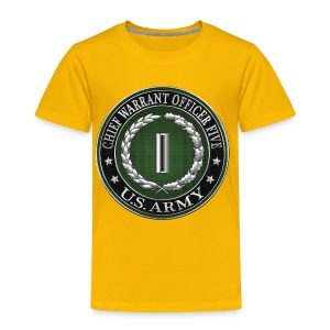 Chief Warrant Officer Five (CW5) Rank Insignia - Toddler Premium T-Shirt