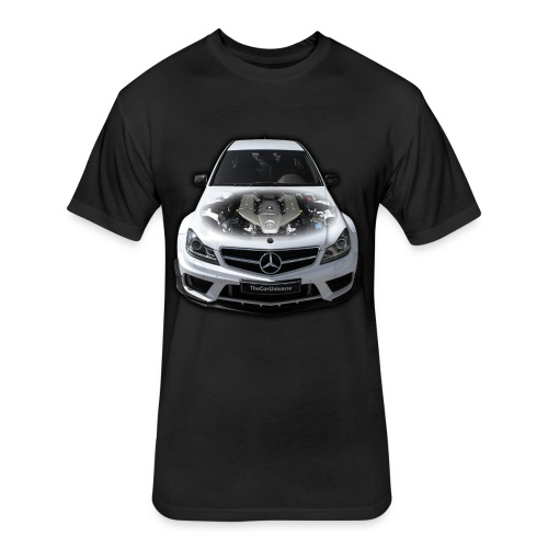 C63 AMG - Fitted Cotton/Poly T-Shirt by Next Level