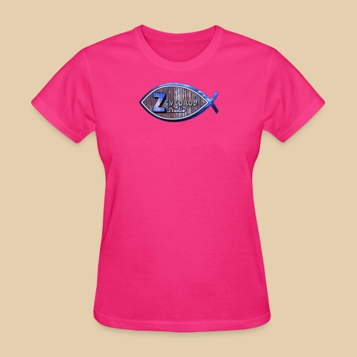 Rustic Logo for YouTuber:Zebco Rod Off Grid &Zevco - Women's T-Shirt