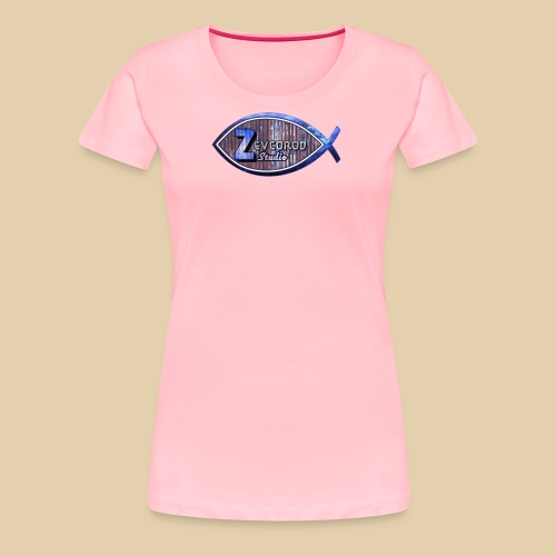 Rustic Logo for YouTuber:Zebco Rod Off Grid &Zevco - Women's Premium T-Shirt
