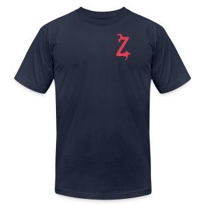 Zilum Red Logo Sleeve - Men's Fine Jersey T-Shirt