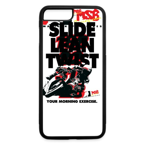Slide, Lean, Twist - Black Text - iPhone 7 Plus/8 Plus Rubber Case