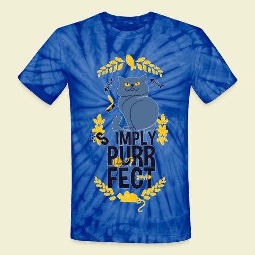 Purrfect - Unisex Tie Dye T-Shirt