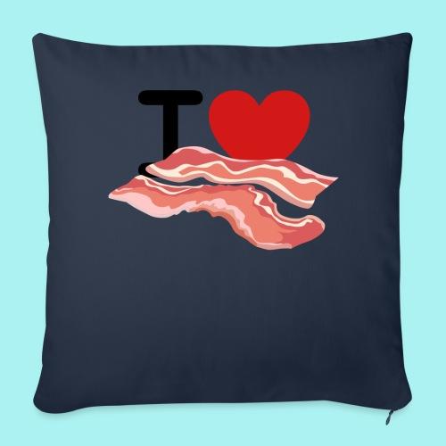 I Love Bacon - Throw Pillow Cover