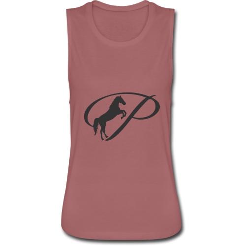 Womens Premium T-Shirt, Large grey Logo - Women's Flowy Muscle Tank by Bella