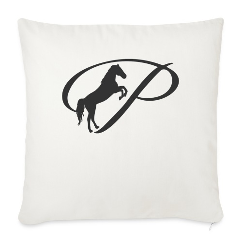 Womens Premium T-Shirt, Large grey Logo - Throw Pillow Cover
