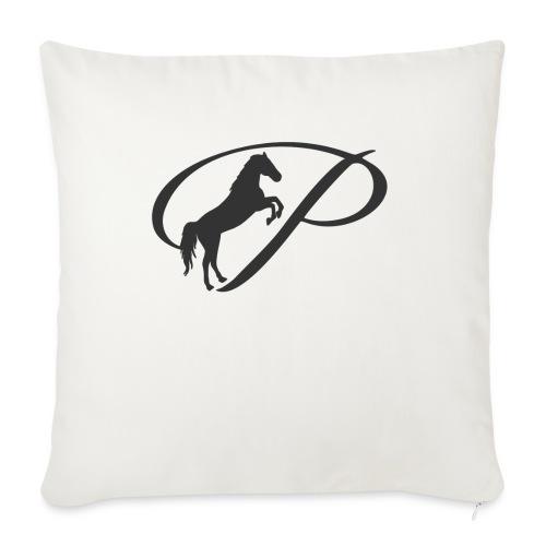 "Womens Premium T-Shirt, Large grey Logo - Throw Pillow Cover 18"" x 18"""