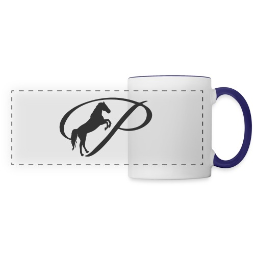 Womens Premium T-Shirt, Large grey Logo - Panoramic Mug