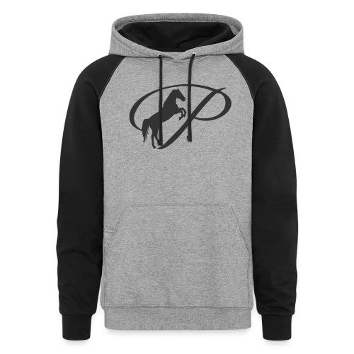 Womens Premium T-Shirt, Large grey Logo - Colorblock Hoodie