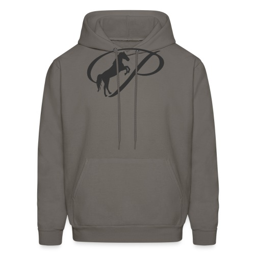 Womens Premium T-Shirt, Large grey Logo - Men's Hoodie