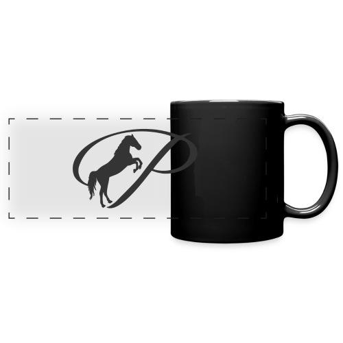 Womens Premium T-Shirt, Large grey Logo - Full Color Panoramic Mug