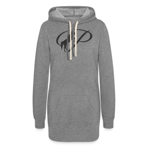Womens Premium T-Shirt, Large grey Logo - Women's Hoodie Dress