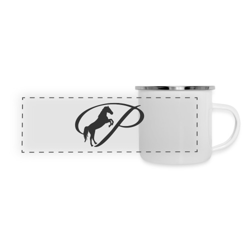 Womens Premium T-Shirt, Large grey Logo - Panoramic Camper Mug