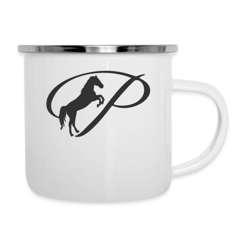Womens Premium T-Shirt, Large grey Logo - Camper Mug