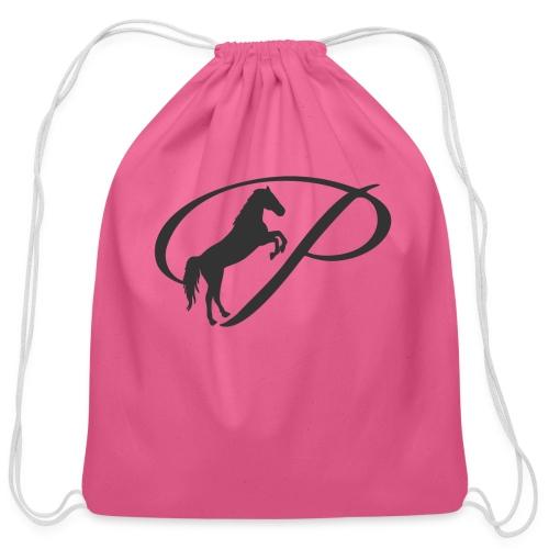 Womens Premium T-Shirt, Large grey Logo - Cotton Drawstring Bag