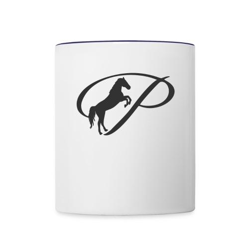 Womens Premium T-Shirt, Large grey Logo - Contrast Coffee Mug