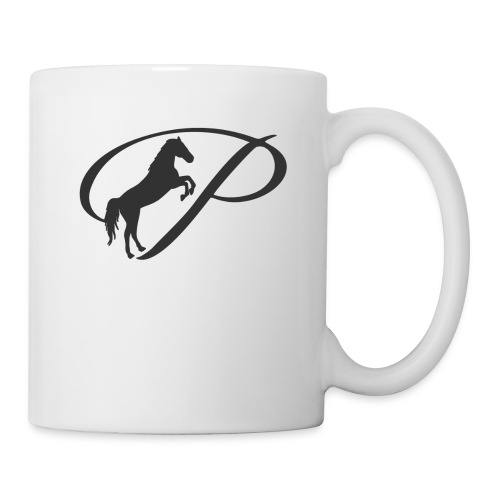 Womens Premium T-Shirt, Large grey Logo - Coffee/Tea Mug