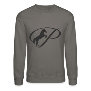 Womens Premium T-Shirt, Large grey Logo - Crewneck Sweatshirt