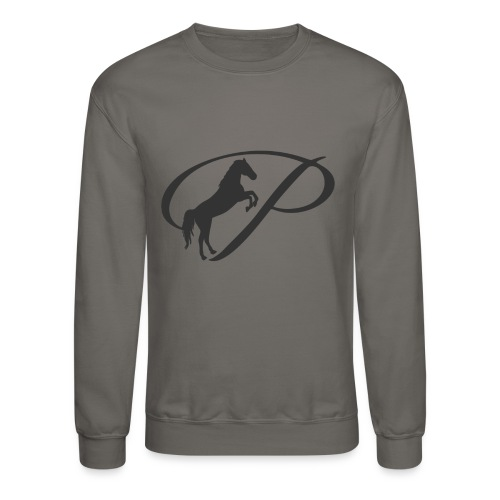 Womens Premium T-Shirt, Large grey Logo - Crewneck Sweatshirt