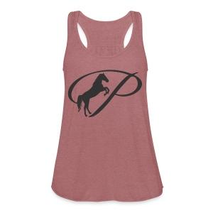 Womens Premium T-Shirt, Large grey Logo - Women's Flowy Tank Top by Bella