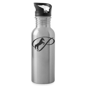 Womens Premium T-Shirt, Large grey Logo - Water Bottle