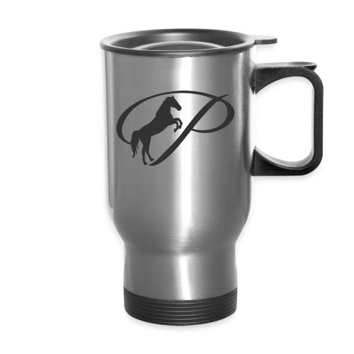 Womens Premium T-Shirt, Large grey Logo - Travel Mug