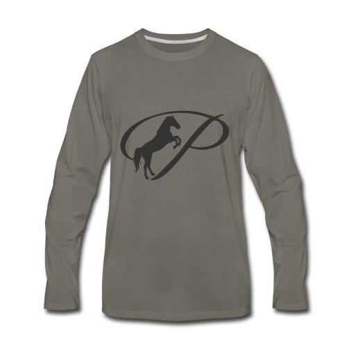 Womens Premium T-Shirt, Large grey Logo - Men's Premium Long Sleeve T-Shirt