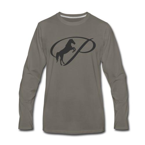 Womens Premium T-Shirt, Large grey Logo - Men's Premium Long Sleeve T-Shirt
