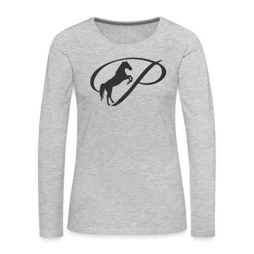 Womens Premium T-Shirt, Large grey Logo - Women's Premium Long Sleeve T-Shirt
