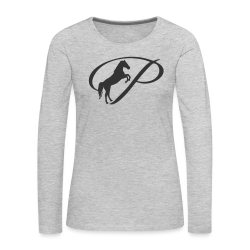 Womens Premium T-Shirt, Large grey Logo - Women's Premium Long Sleeve T-Shirt