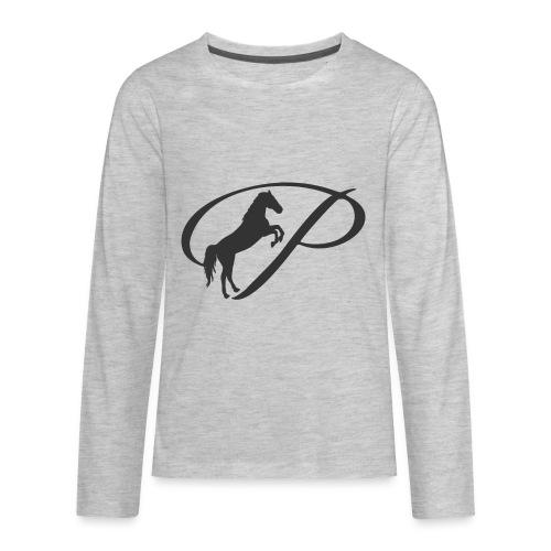 Womens Premium T-Shirt, Large grey Logo - Kids' Premium Long Sleeve T-Shirt