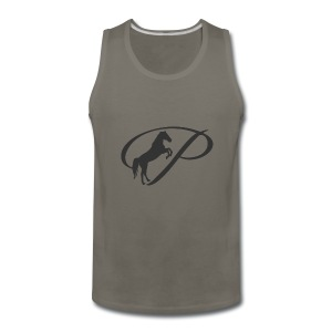 Womens Premium T-Shirt, Large grey Logo - Men's Premium Tank