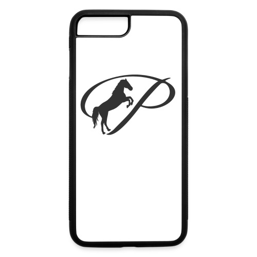 Baby Long Sleeve   and large grey logo - iPhone 7 Plus/8 Plus Rubber Case