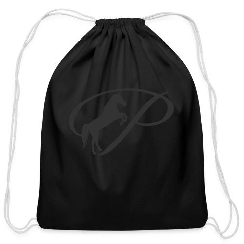 Baby Long Sleeve   and large grey logo - Cotton Drawstring Bag