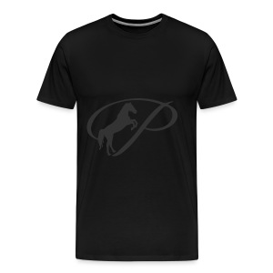 Baby Long Sleeve   and large grey logo - Men's Premium T-Shirt