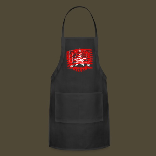 Circled Star R.E.D. Front And Back - Adjustable Apron