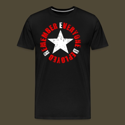Circled Star R.E.D. Front And Back - Men's Premium T-Shirt