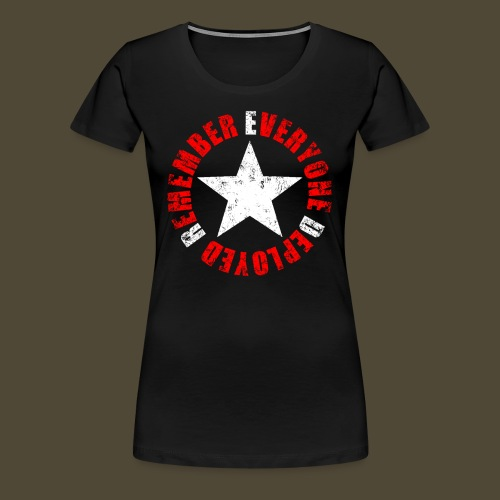 Circled Star R.E.D. Front And Back - Women's Premium T-Shirt