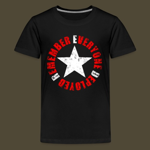 Circled Star R.E.D. Front And Back - Kids' Premium T-Shirt